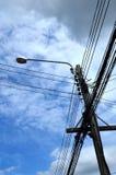 Elektricitetsstolpe Royaltyfria Bilder
