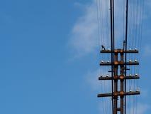 Elektricitetsstolpe Arkivfoton