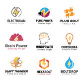 Elektricitetssymboldesign Arkivfoto