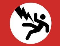 elektricitetsteckenvarning Royaltyfri Bild