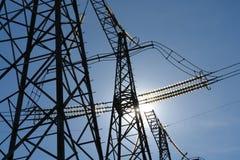 elektricitetsvägar Fotografering för Bildbyråer