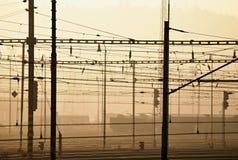 Elektrifizierter Bahnhof Lizenzfreie Stockfotos