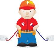elektriker stock illustrationer