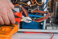 Elektriker Fotografering för Bildbyråer