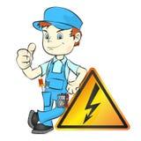 Elektriker för reparationsvektor stock illustrationer
