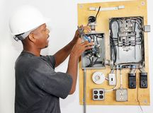 Elektriker-quetschverbindendraht Stockfotos