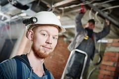 Elektriker Worker Fotografering för Bildbyråer