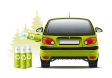 Elektrisch autoherladen Stock Foto