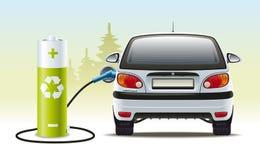 Elektrisch autoherladen Royalty-vrije Stock Afbeeldingen