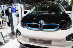 Elektrisch BMW i3, Motorshow Geneve 2015 Royalty-vrije Stock Afbeeldingen