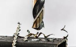 Elektrisch boor aan boor staal royalty-vrije stock afbeelding
