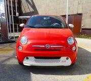 Elektrisch Fiat 500, Expo 2015, Milaan Stock Foto's