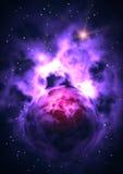 Elektrisch heelal royalty-vrije illustratie