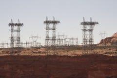 Elektrisch hulpkantoor van Glen Canyon Dam bij Pagina, Arizona Royalty-vrije Stock Foto