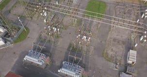 Elektrisch Installatiesatellietbeeld stock videobeelden