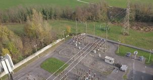 Elektrisch Installatiesatellietbeeld stock footage