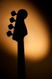 Elektrisch jazz bassilhouet Royalty-vrije Stock Afbeelding