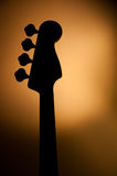 Elektrisch jazz bassilhouet stock foto's