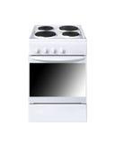 Elektrisch kooktoestel op witte achtergrond Royalty-vrije Stock Foto
