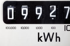 Elektrisch meterclose-up Stock Fotografie