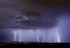 Elektrisch Onweer Stock Foto