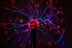 Elektrisch plasma in glasgebied stock afbeelding