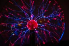Elektrisch plasma in glasgebied royalty-vrije stock afbeeldingen