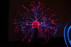 Elektrisch plasma in glasgebied stock fotografie