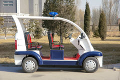 Elektrisch politievoertuig royalty-vrije stock afbeelding