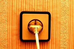 Elektrisch schließen Sie den Sockel an lizenzfreie stockfotografie