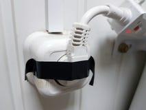 Elektrisch schließen Sie Steckdose an stockfoto