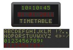 Elektrisch tijdschema. Stock Afbeelding