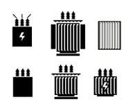 Elektrisch transformatorpictogram - vectorillustratie stock illustratie