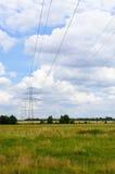 Elektrisch veld Stock Foto's