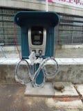 Elektrisch voertuig het laden faciliteiten Stock Afbeeldingen