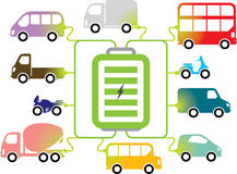 Elektrisch voertuig het Laden post stock illustratie