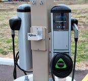 Elektrisch voertuig het Laden Post Royalty-vrije Stock Foto