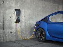 Elektrisch voertuig het laden post voor huis Royalty-vrije Stock Foto's