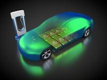 Elektrisch voertuig met open carrosserie stock illustratie