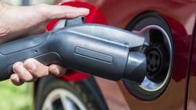 Elektrisch voertuig wordt gestopt die in Royalty-vrije Stock Foto