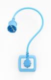 Elektrisch Vraagteken Vector Illustratie