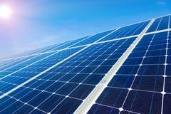 Elektrisch zonnepaneel Royalty-vrije Stock Afbeeldingen