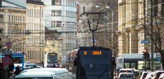 Elektrische öffentliche Transportmittel in Riga lizenzfreie stockfotos