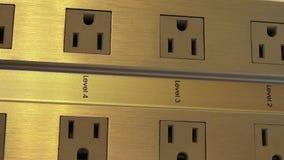Elektrische Afzet, Elektriciteit, Energie stock videobeelden