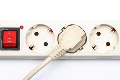 Elektrische afzet en contactdoos Stock Foto's