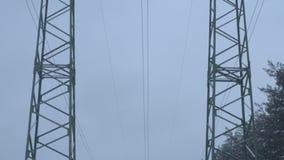 Elektrische Anlagen am Winter stock footage
