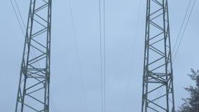 Elektrische Anlagen am Winter stock video