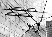 Elektrische Anschlüsse in der Stadt Stockbilder