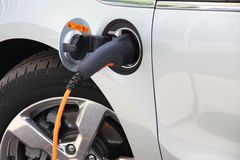 Elektrische auto Royalty-vrije Stock Afbeeldingen