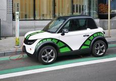Elektrische auto in Brussel belgië Royalty-vrije Stock Afbeeldingen